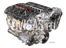 CHEVROLET CORVETTE LS3 ENGINE CUT-AWAY POSTER - 20